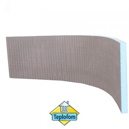 Teplofom+ XPS, двусторонний слой (2500x600 мм) с пропилом (поперечный или продольный)