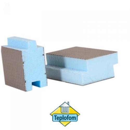 Теплоизоляционная панель Teplofom+ SP шип-паз односторонняя (1250х600мм)