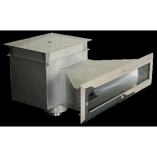 Скиммер 25 м² с автодоливом и переливом, с узкой горловиной 500 мм AISI316L