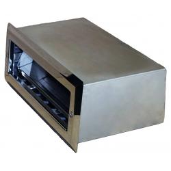 Скиммер 25м² с узкой горловиной, выдвижной корзиной, герконовыми датчиками и блоком управления, наклонный AISI316L