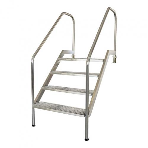 """Лестница """"PMR"""" с перфорированными ступеньками, AISI-316"""