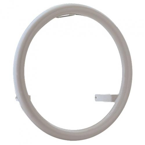 Поручень круглый, белый, AISI-316