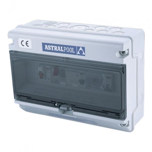 Блок управления 1 насосом и 1 подводным светильником, с защитой от тепловой перегрузки и фазы защиты