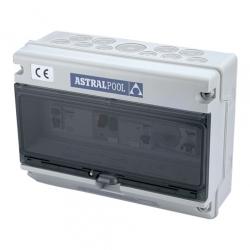 Блок управления 1 насосом и 1 подводным светильником, с дифференциальной защитой (УЗО)